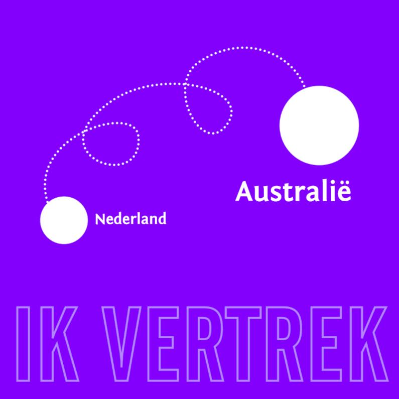 Verhuiskaarten - Emigratie lavendel 1
