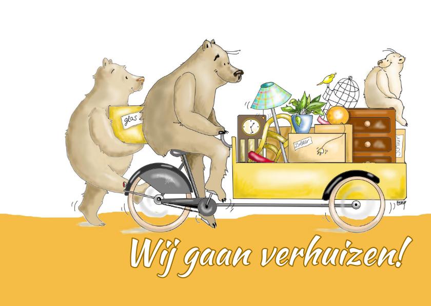 Verhuiskaarten - Familie beer gaat verhuizen