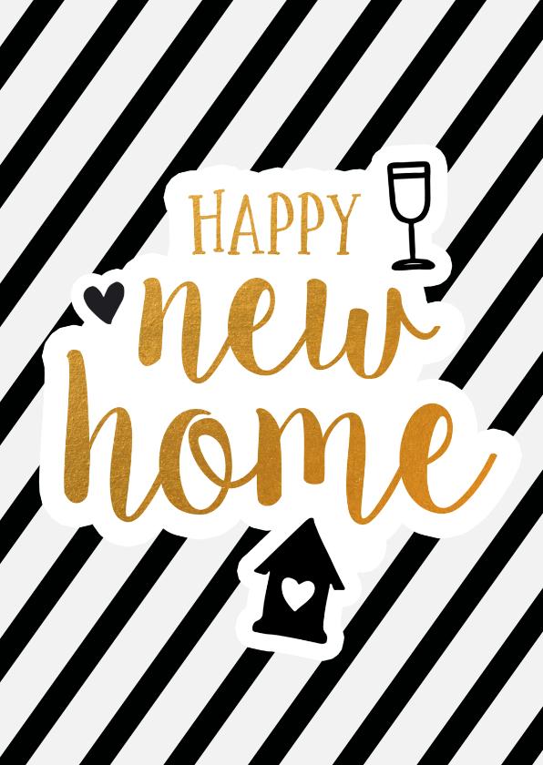 Verhuiskaarten - Felicitatie - new home gold