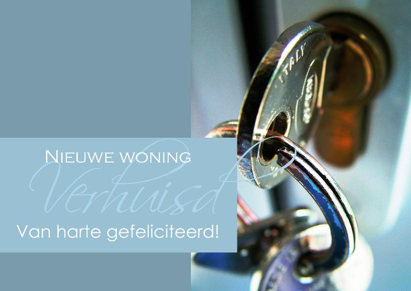 Verhuiskaarten - Felicitatiekaart nieuwe woning 2