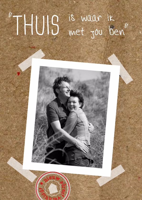 Verhuiskaarten - Foto karton romantische regel NL