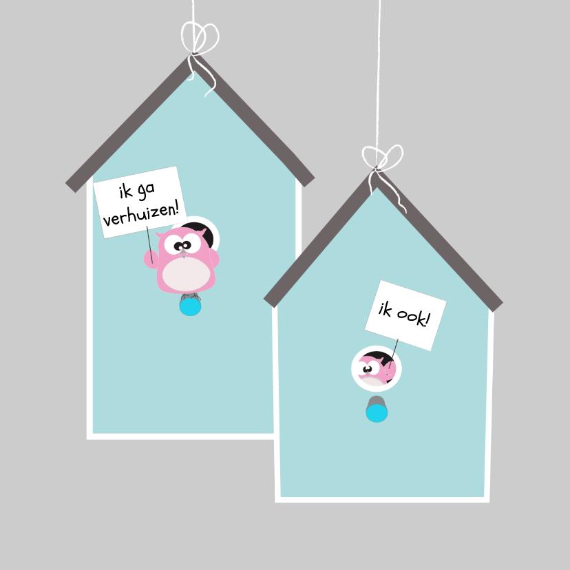 Verhuiskaarten - Grappige verhuiskaart samenwonen