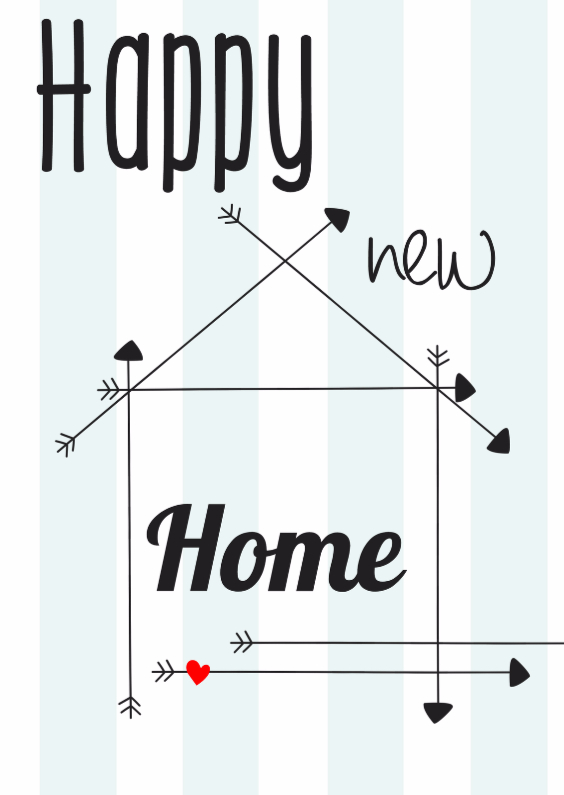 Verhuiskaarten - Happy new Home