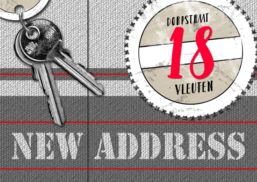 Verhuiskaarten - hip en trendy nieuw adres a