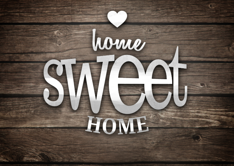 Home sweet home hout letters 1