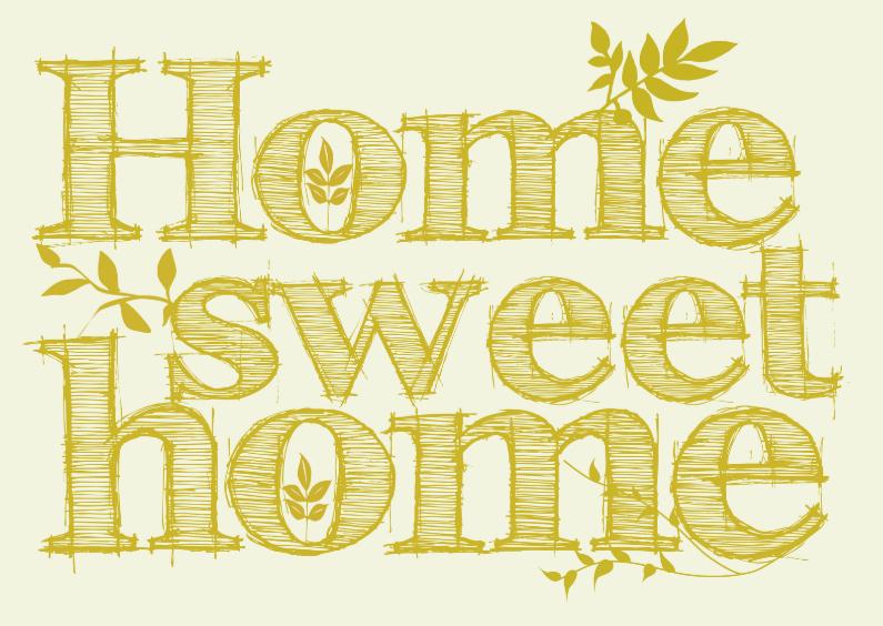 Verhuiskaarten - Home sweet home verhuiskaart 2