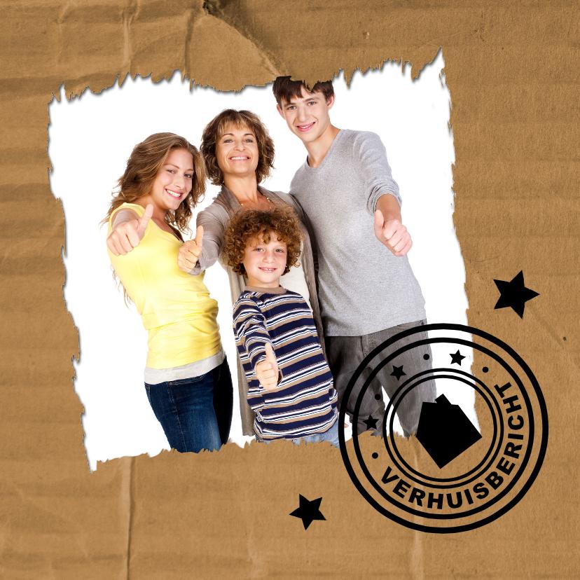 Verhuiskaarten - Karton Stempel Verhuiskaart 1LS3