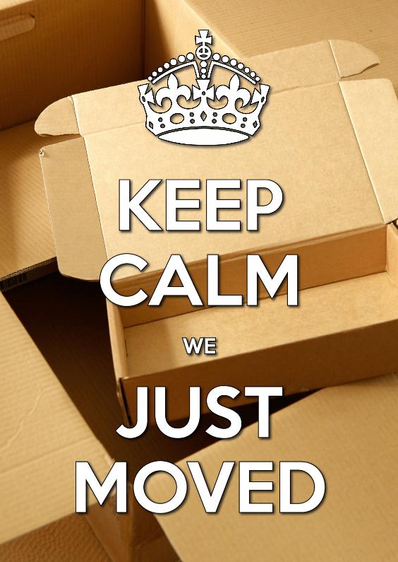 Verhuiskaarten - Keep Calm we Just Moved 2 - OT