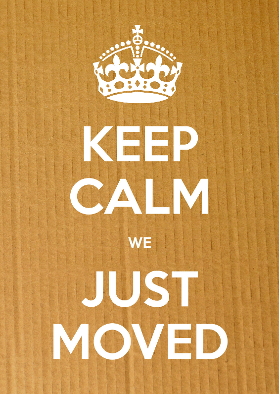 Verhuiskaarten - Keep Calm we Just Moved