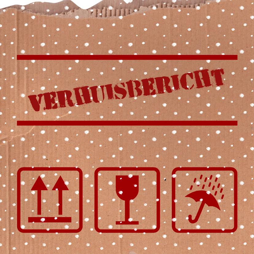 Verhuiskaarten - Kerst Verhuisdoos Sneeuw - HR