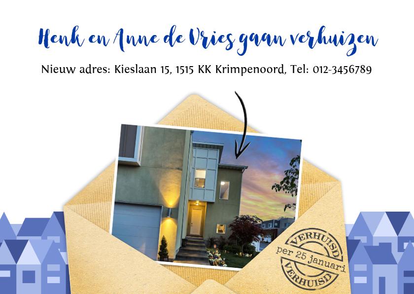 Verhuiskaarten - Leuke verhuiskaart met envelop en eigen foto's