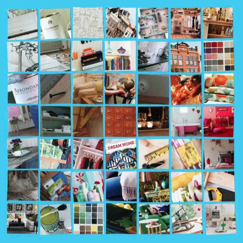 Verhuiskaarten - Minicollage Klusspul huis