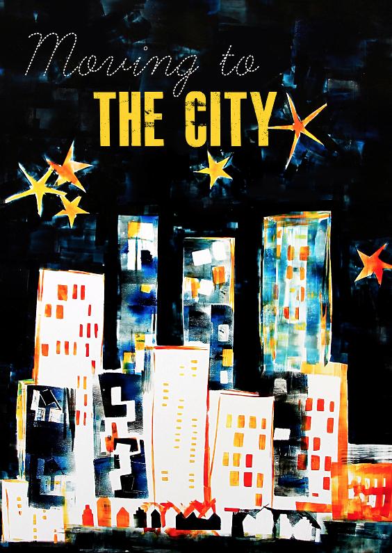 Verhuiskaarten - Moving to the city