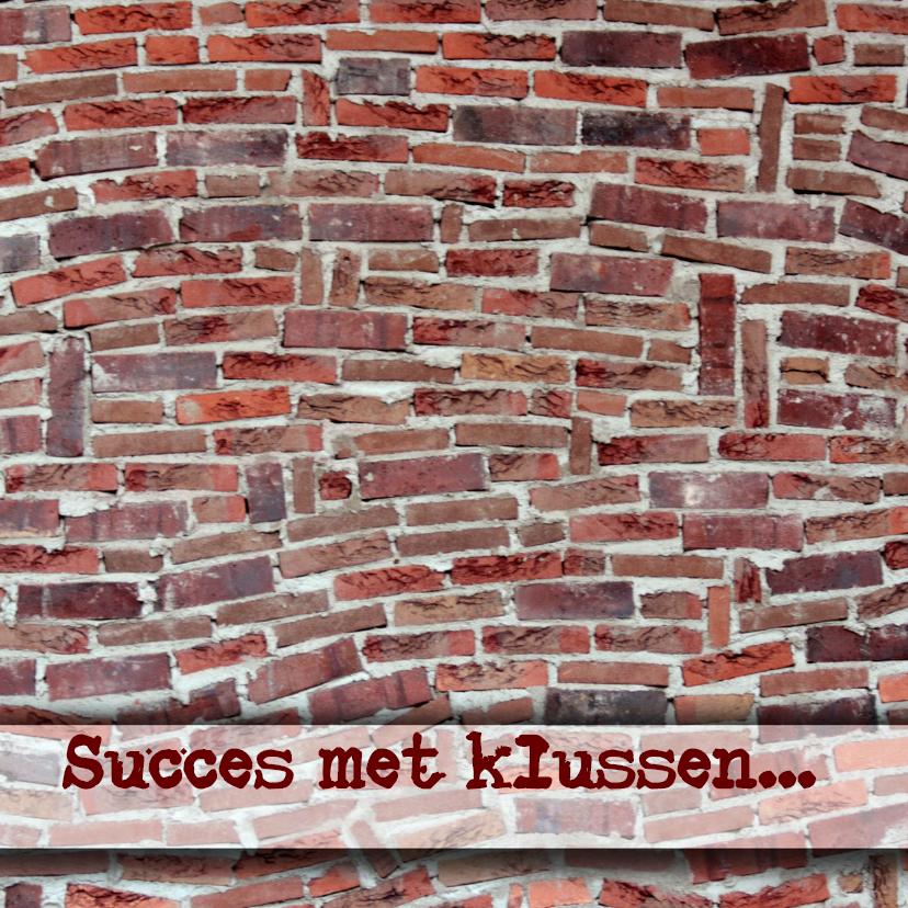 Verhuiskaarten - Muur en succes met klussen