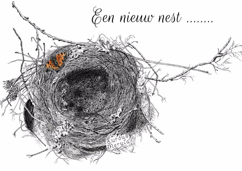 Verhuiskaarten - Nest merel