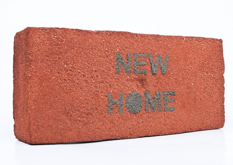 Verhuiskaarten - NEW HOME op baksteen
