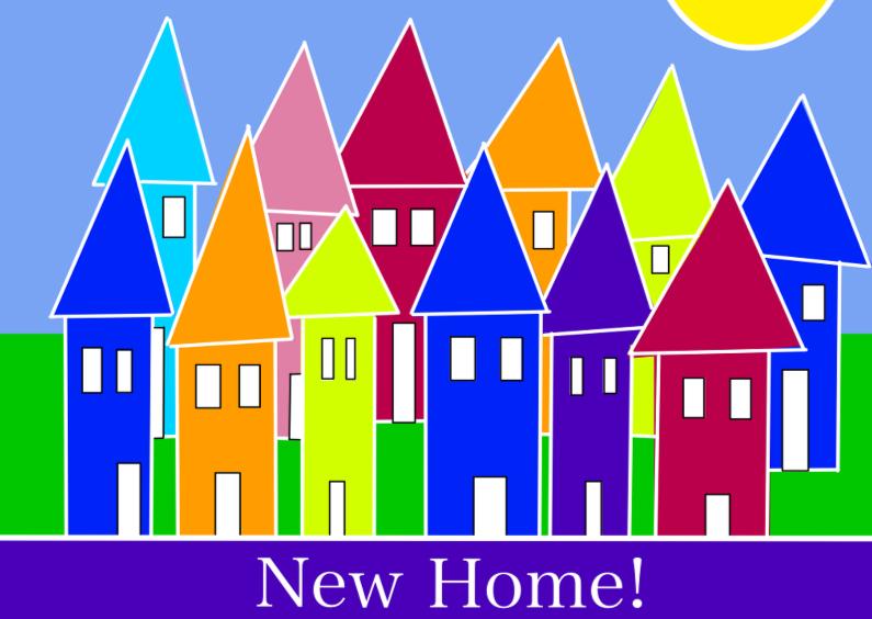 Verhuiskaarten - New Home verhuizen