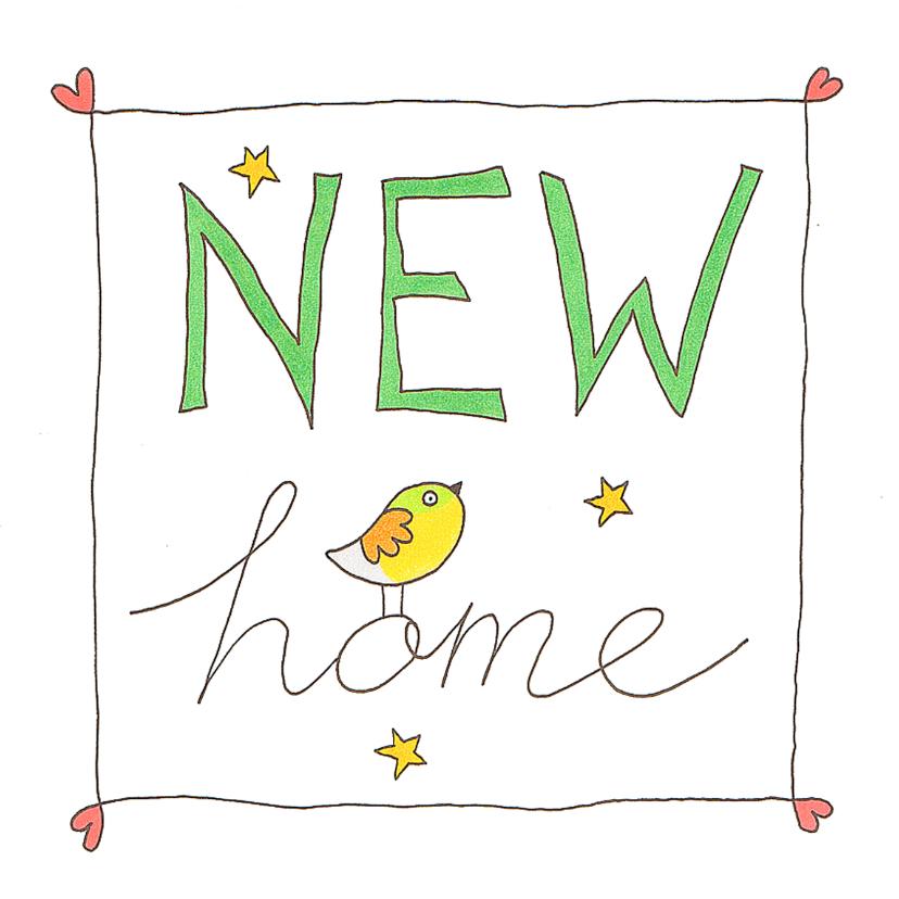 Verhuiskaarten - New home vogel