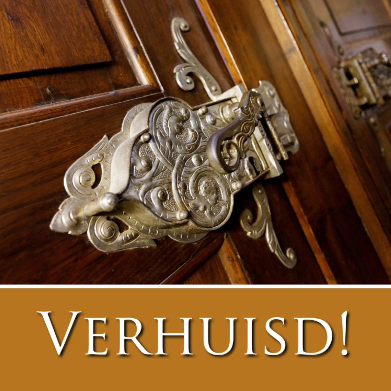 Verhuiskaarten - Nieuw Adres 2 - Groot Slot
