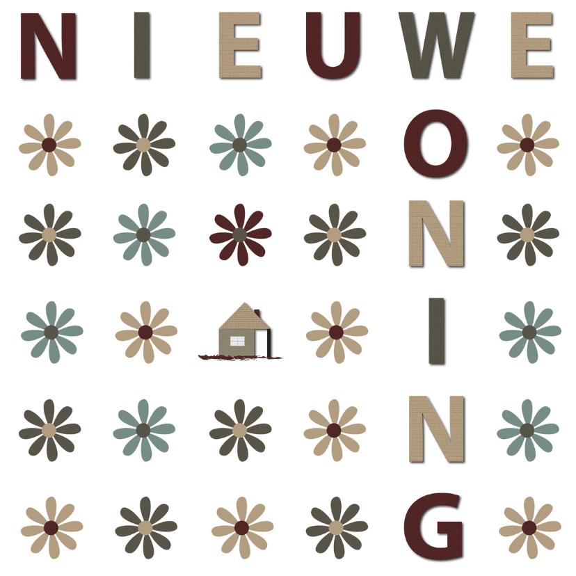 Verhuiskaarten - nieuwe woning flowers