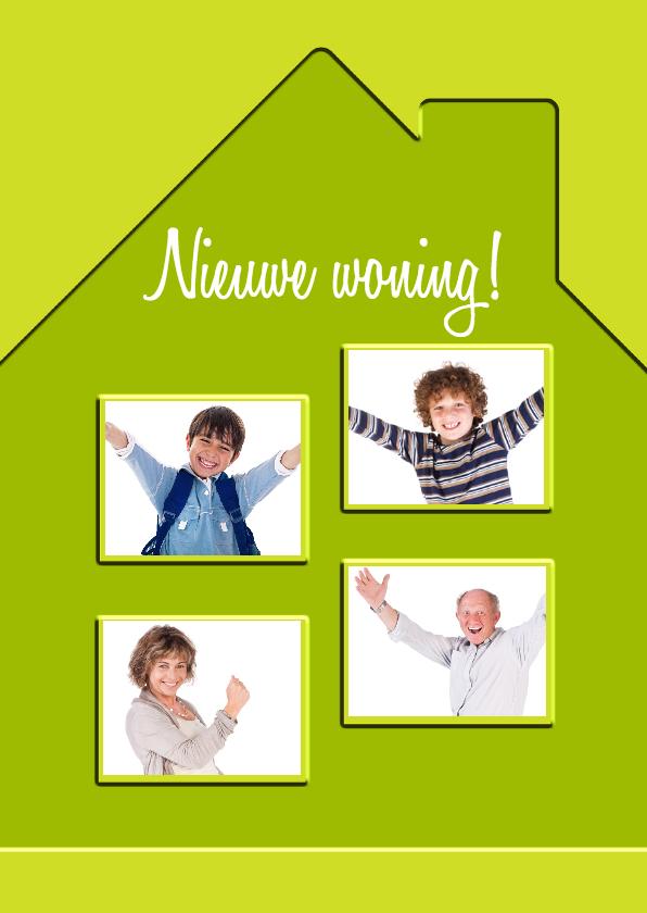 Verhuiskaarten - Nieuwe woning met 4 ramen - BK