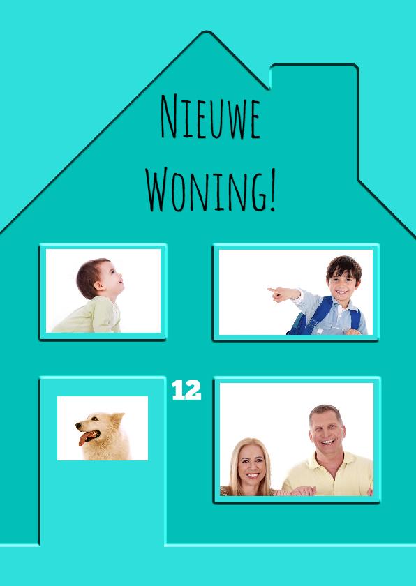 Verhuiskaarten - Nieuwe woning met ramen - BK