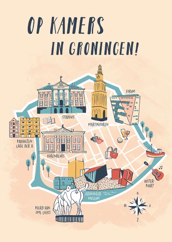 Verhuiskaarten - Op kamers in Groningen