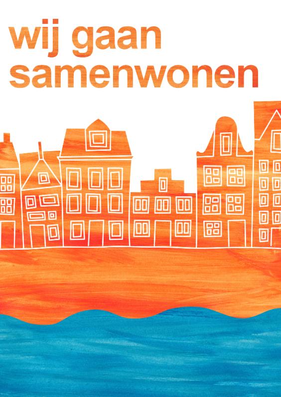 Verhuiskaarten - Samenwonen Hollands straatje