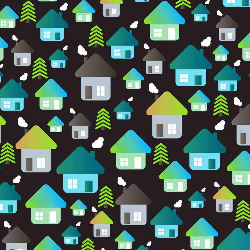 Verhuiskaarten - Samenwonen huis verhuiskaart