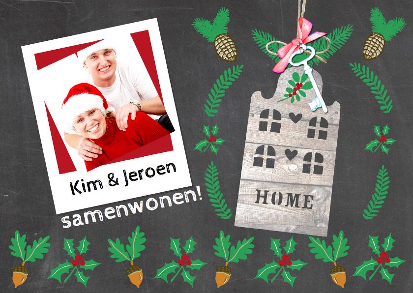 Verhuiskaarten - samenwonen kerst