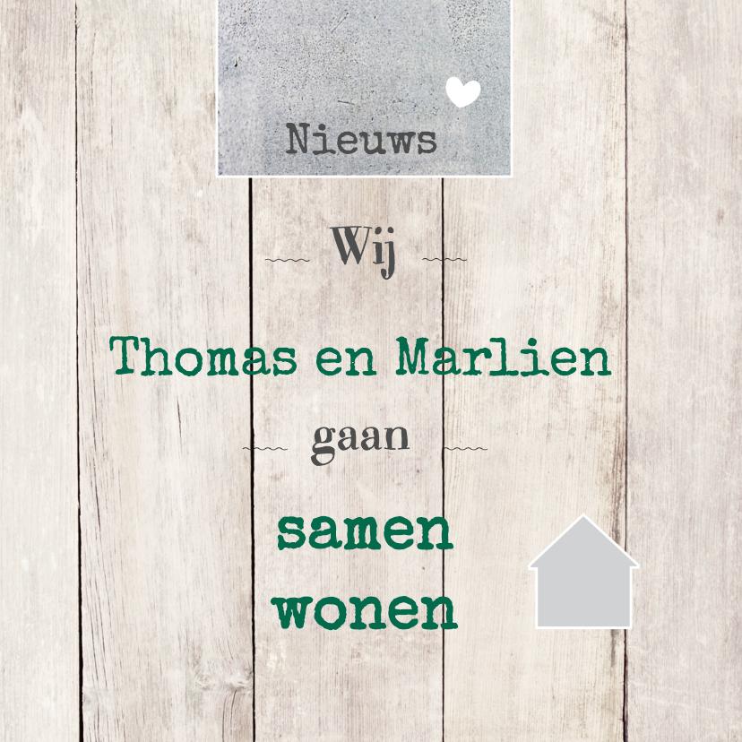 Verhuiskaarten - Samenwonen Thomas en Marlien