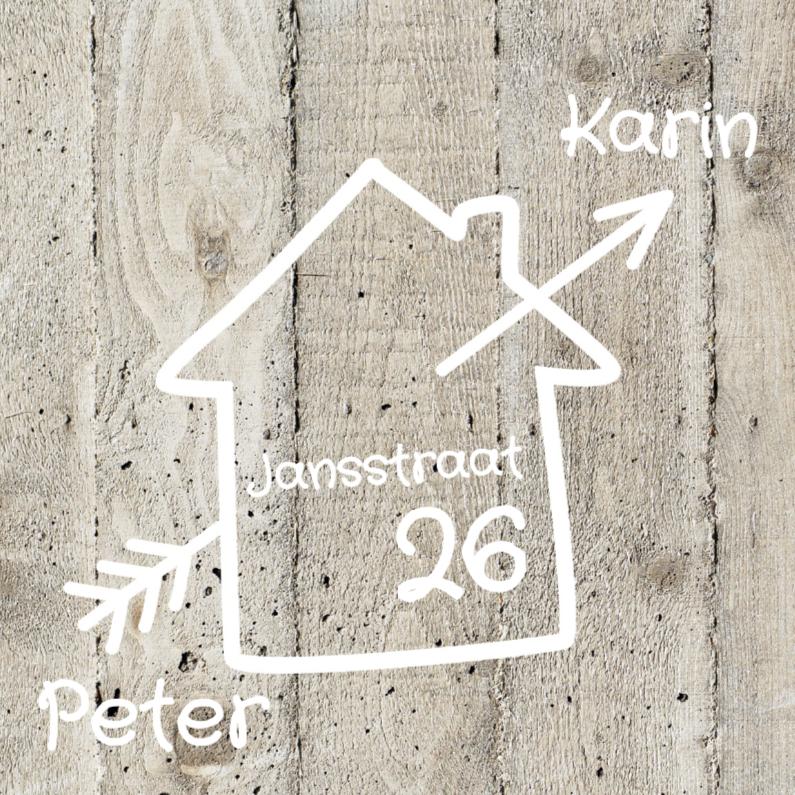 Verhuiskaarten - Samenwonen verhuiskaart