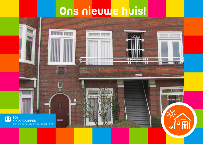 Verhuiskaarten - SOS kinderdorpen verhuiskaart