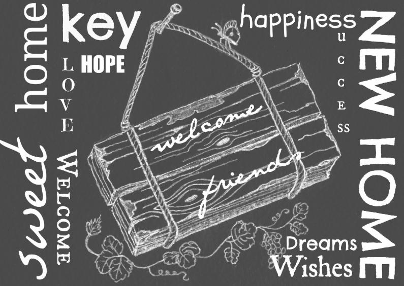Verhuiskaarten - Sweet home, key