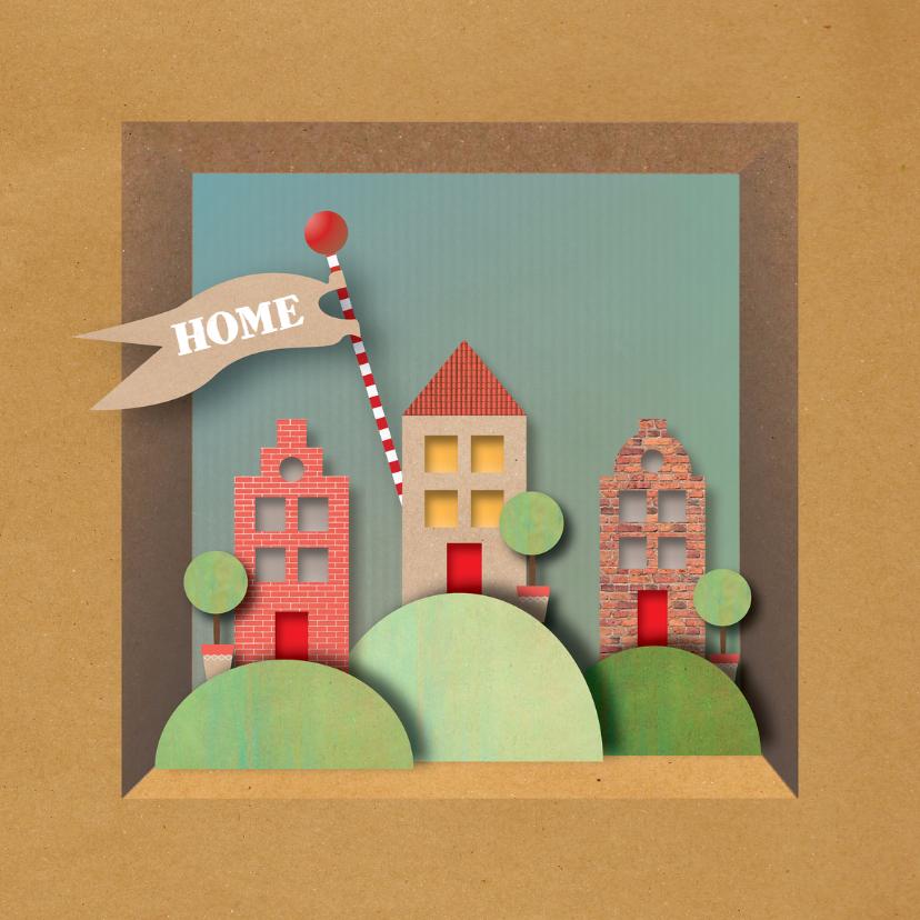 Verhuiskaarten - Verhuis - Home on a  hill - MW