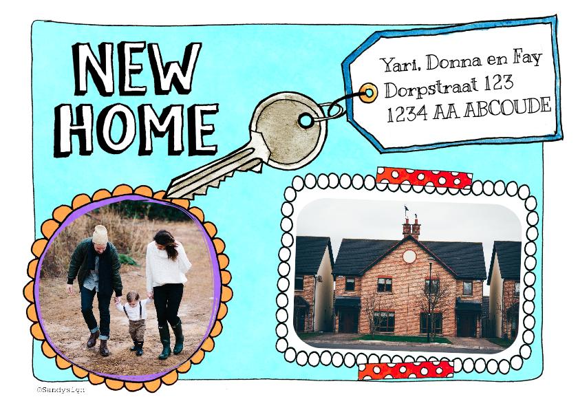 Verhuiskaarten - Verhuisbericht adreswijziging New home sleutel - SD