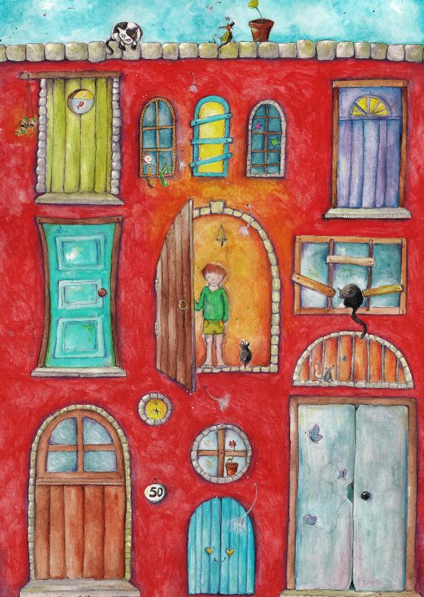 Verhuiskaarten - Verhuisbericht Knock knock