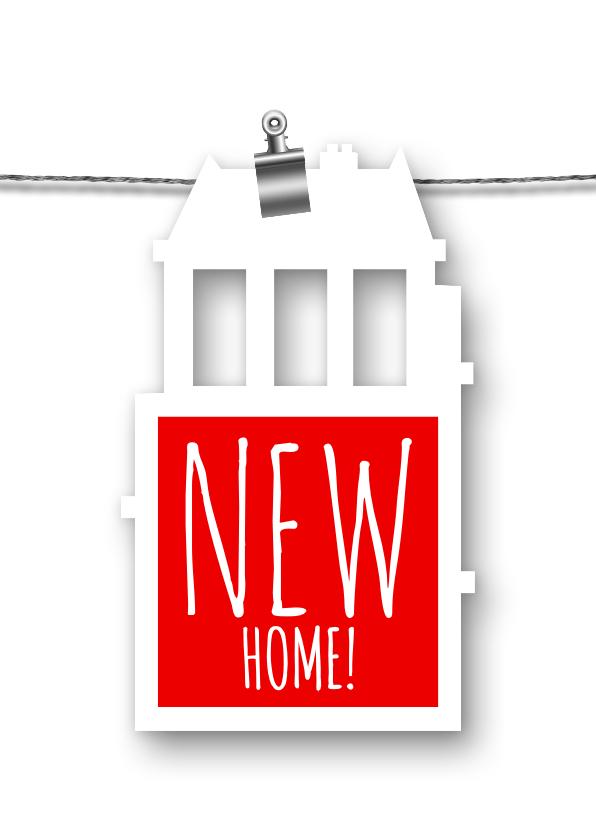 Verhuiskaarten - Verhuisbericht label huis