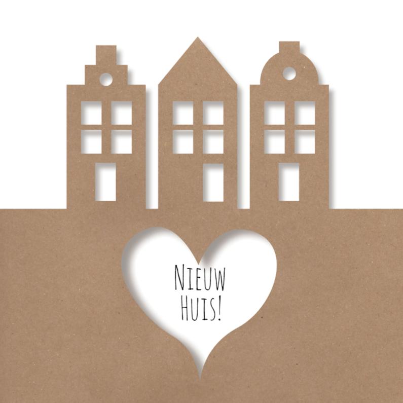 Verhuiskaarten - Verhuiskaart BrownPaperNewHouse