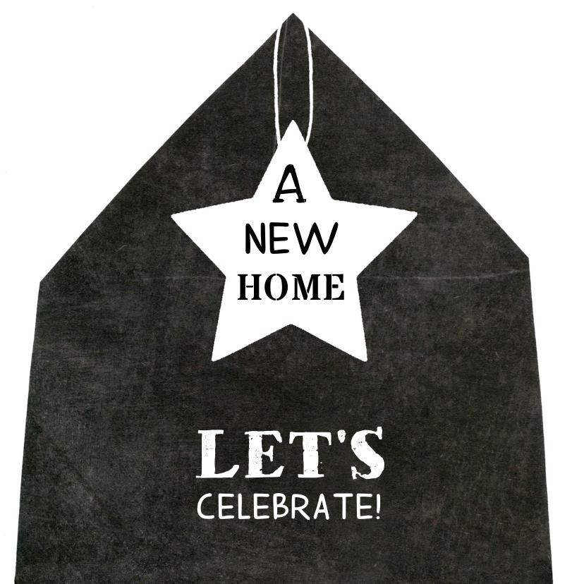Verhuiskaarten - Verhuiskaart eenvoudig huis ster