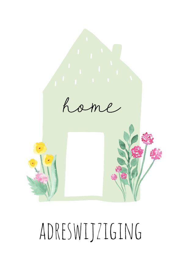 Verhuiskaarten - Verhuiskaart Flowerhome