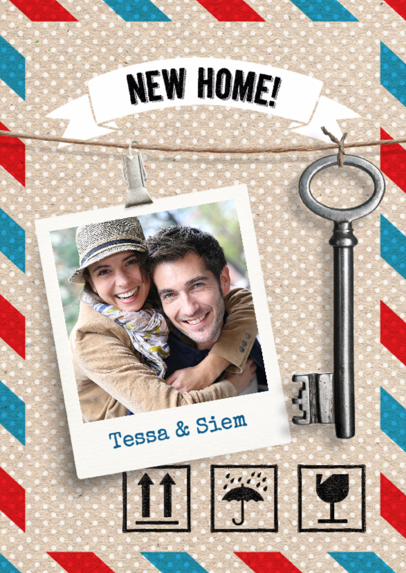 Verhuiskaarten - Verhuiskaart foto met sleutel