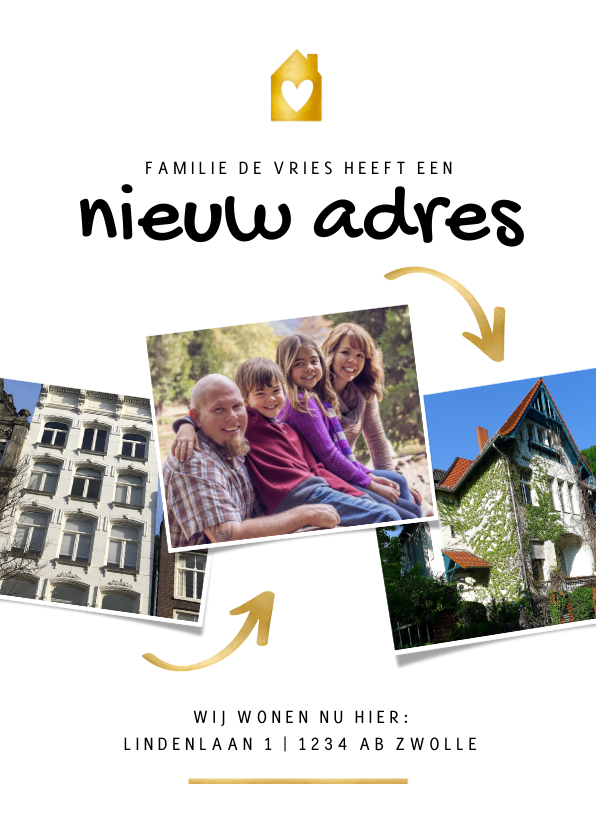 Verhuiskaarten - Verhuiskaart foto's oud huis nieuw huis
