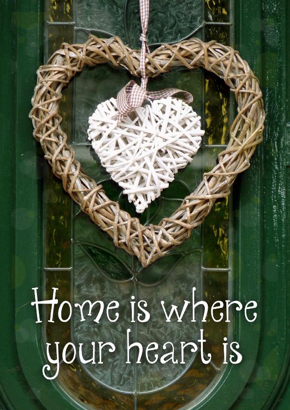 Verhuiskaarten - Verhuiskaart Home is where your