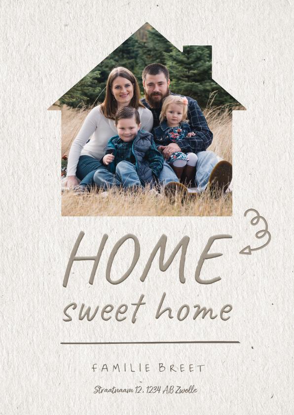 Verhuiskaarten - Verhuiskaart Home sweet home fotohuisje