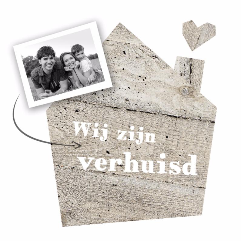 Verhuiskaarten - Verhuiskaart houten huis
