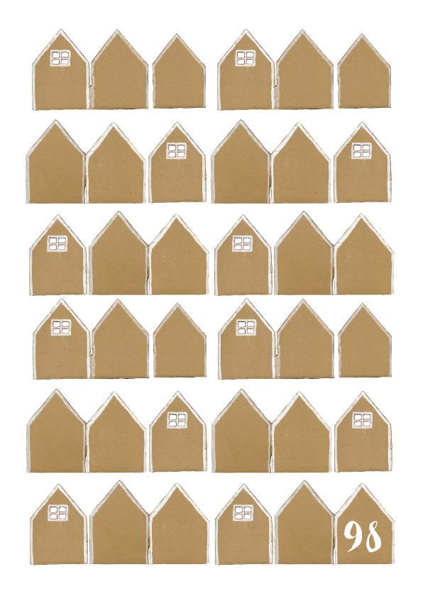 Verhuiskaarten - Verhuiskaart huisjes karton