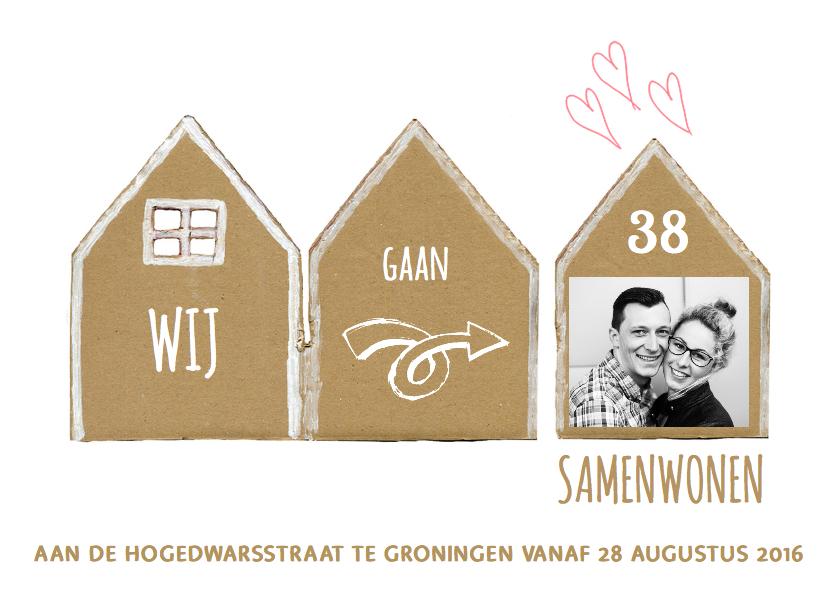 Verhuiskaart huisjes samenwonen 1