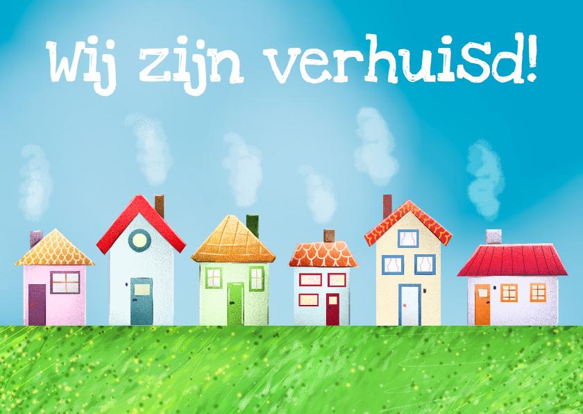 Verhuiskaarten - Verhuiskaart Huizen op n rijtje