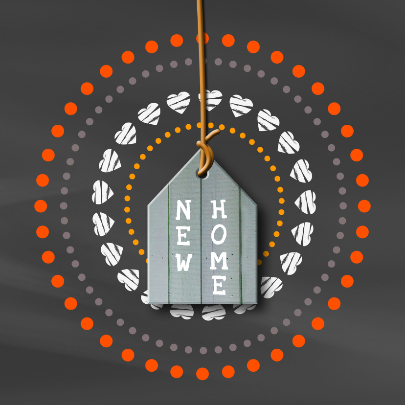 Verhuiskaarten - Verhuiskaart Krijtbord Huisje